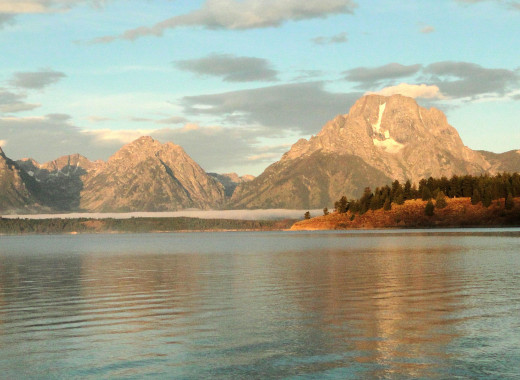 Grand Tetons from Yellowstone