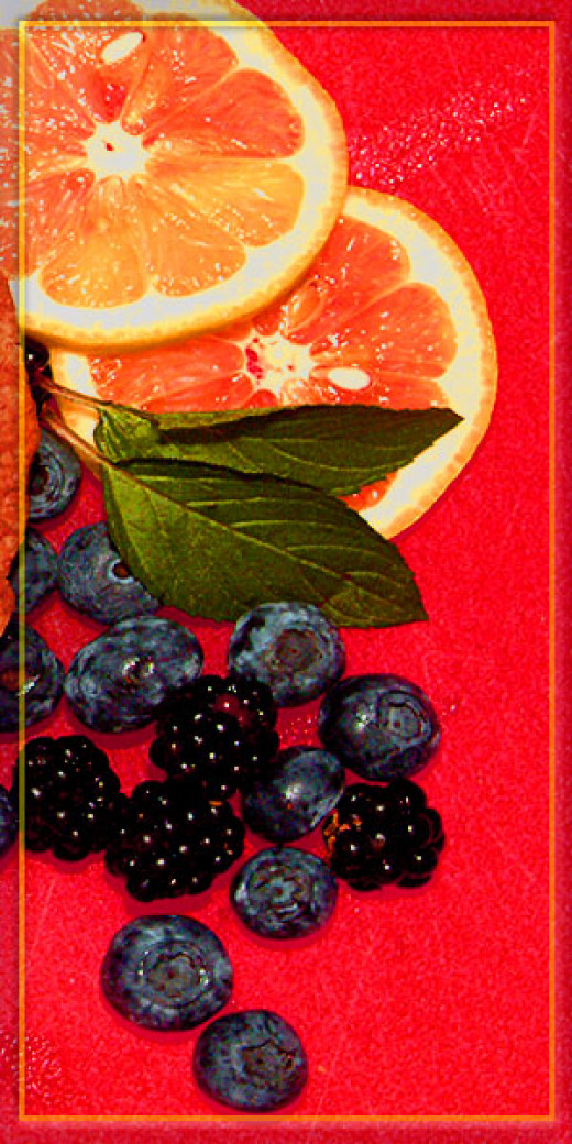 Berries and the acid from lemons make a very good combination!