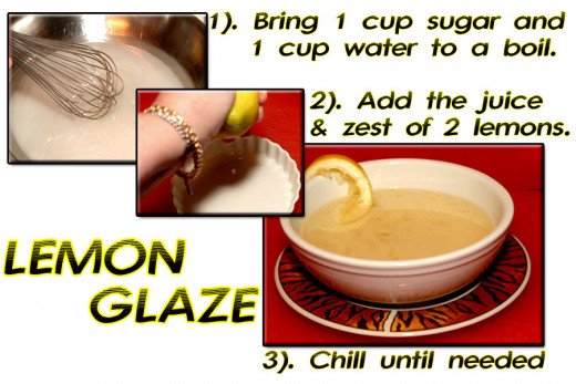 In the mean time, you will be making a simple lemon glaze (syrup) which brings a boost of flavor and visual appeal to your finished fresh berry tart.