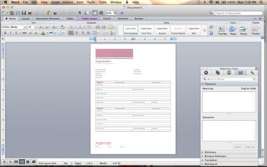 Create agendas using built-in templates.