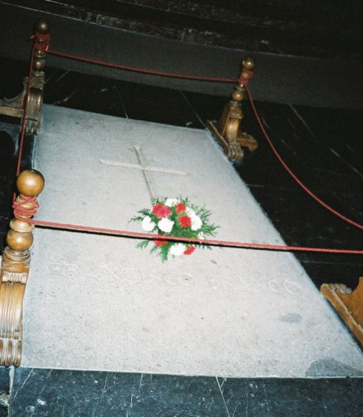 Franco's tomb inside the basilica.