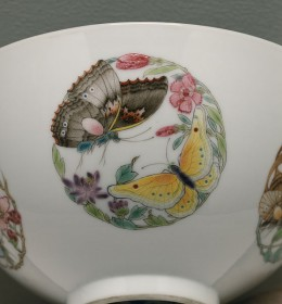 Chinese Bowl with Butterfly Lovers
