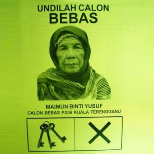 Malaysia's oldest election Independent candidate.