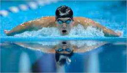 He is the fastest swimmer in the 2012 Olympics in London!