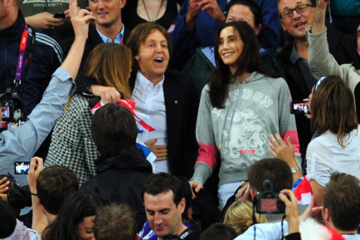 His amazing life continues as he is a STAR once again in the 2012 London Olympics. Here he has a good time with his gorgeous wife.