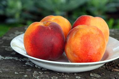 Georgia peaches are a sweet, juicy and healthy snack.