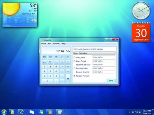 The Windows 7 calculator can offer addiitonal calculations, such as instalments, through the View menu.