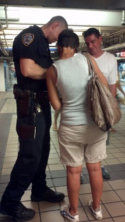 Of course, this isn't an ad. But it is another way New Yorkers are exposed to guns every day... the presence of NYPD and other armed personnel, enhanced for our protection after 9/11.