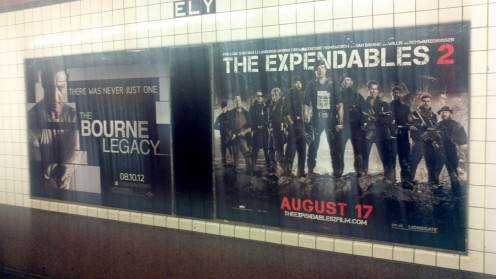 Spotted in a subway station in Long Island City, Queens below the Citi building.