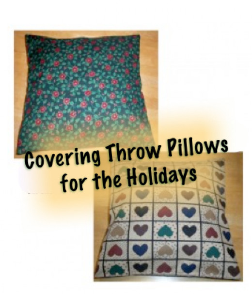 A Reversible Throw Pillow Slipcover for Thanksgiving and Christmas