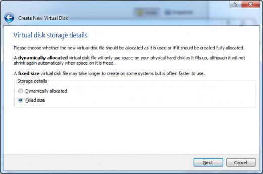 Virtual Disk Storage Details