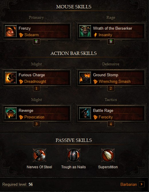Solo Barbarian Build