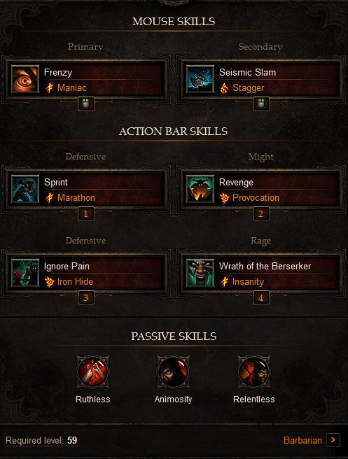 PVP Barbarian Build