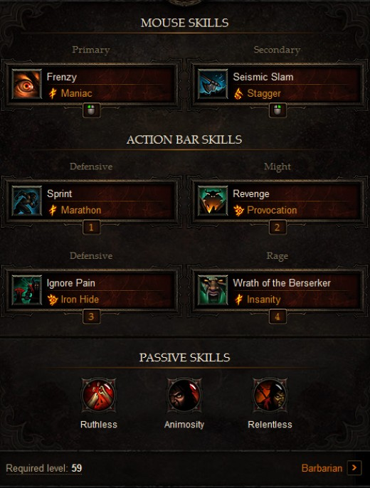 PVP Barbarian Build