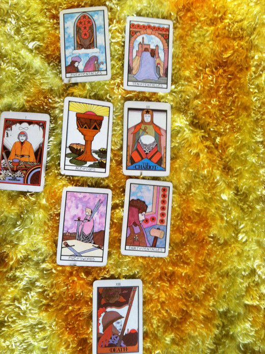 Tarot deck used: Aquarian Tarot by David Palladini