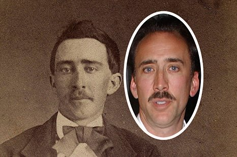 is this Nicolas Cage from a past-life, or is he a vampire?