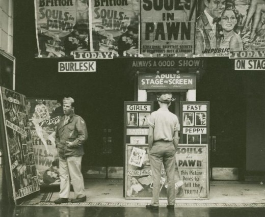 """Souls in Pawn""  Chicago, 1946. Photo by Walker Evans."