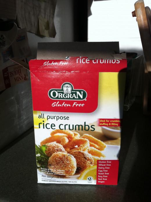 Gluten-free rice crumbs