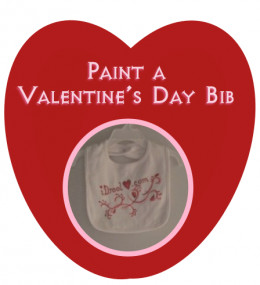 """This Valentine's Day bib is designed on t-shirt fabric. A very absorbent creation, and a modern take on """"It's just sugar-water!"""""""
