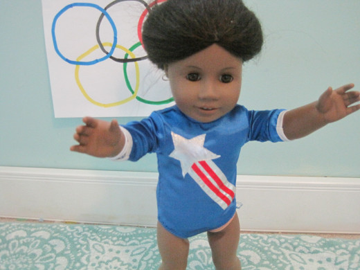 The Gabby Douglas Doll as Designed By Doll Enthusiasts at americangirldollsforever.blogspot.com