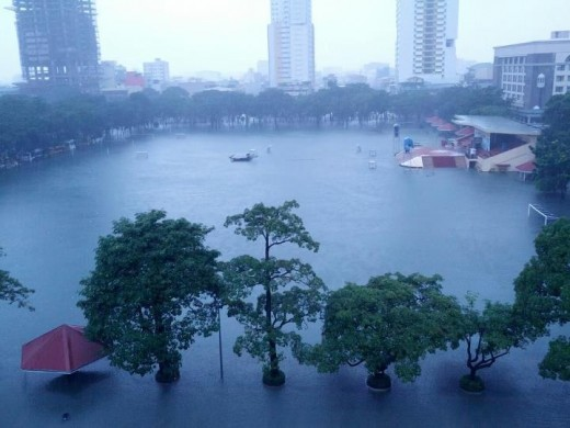 UST Grounds Submerged