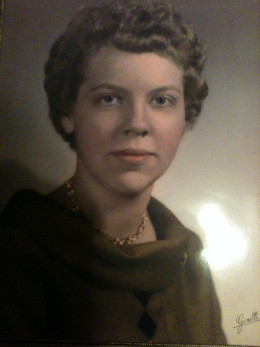 My mother who was only 18 years old. It was her senior year at Hinton High School.