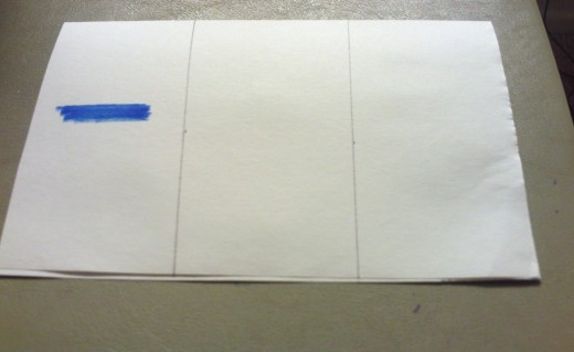 Draw the tricolor on the flag card with a ruler, or by hand.