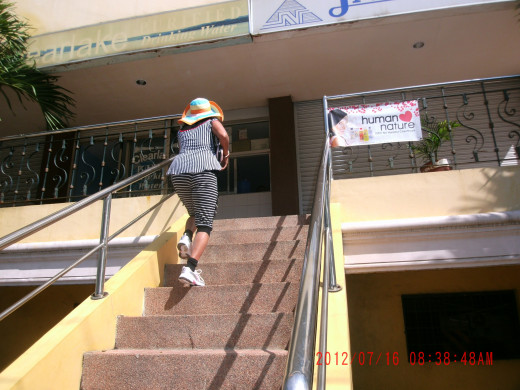 This is the stairway where I fell. This picture was taken previously in one of my daily two-hour walking as part of my exercise regimen.