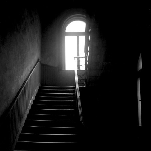 Ghosts often haunt staircases but we don't know why.