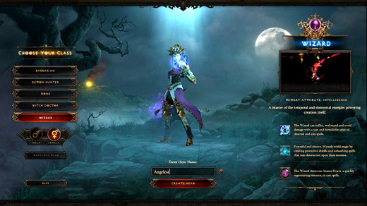 Diablo 3 Wizard Character Creation