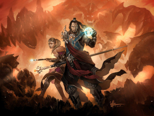 TheWizard in Diablo 3 Conceptual Art