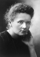 Marie Curie when she received the Nobel Prize in Chemistry.