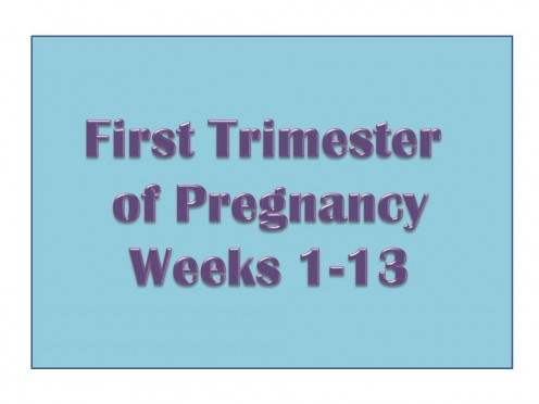 Learn more about the first trimester of pregnancy.