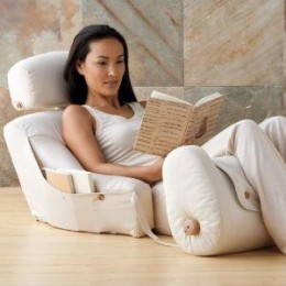 This type of bed/leg lounge looks perfect for recovery after TRAM Flap reconstruction, or any tummy-tuck surgery.