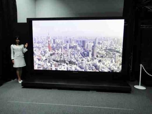 "Panasonic's new Super Hi Vision 145"" 7680x4320 Display"