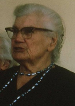 Grandmother Miemie McGregor at age 90