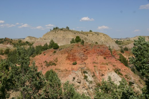 View of the badlands - Theodore Roosevelt National Park