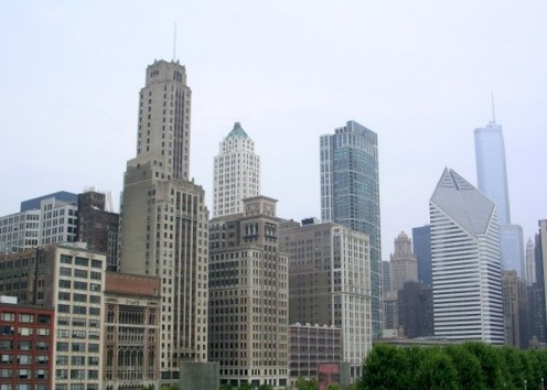 Skyscrapers in Chicago.