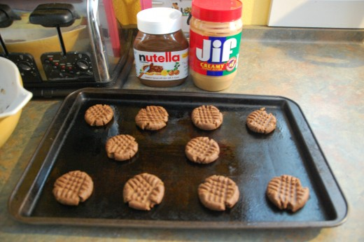 Nutella and peanut butter, a match made in cookie Heaven!