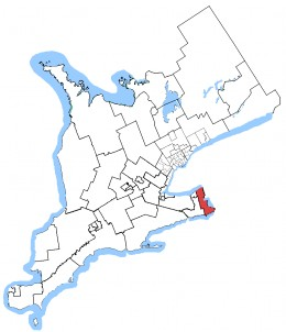 Map location, Niagara Falls, Ontario