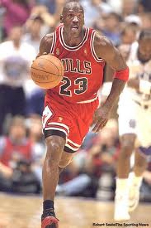 Michael Jordan of the Chicago Bulls played college basketball in North Carolina and won a championship with the Targeels.