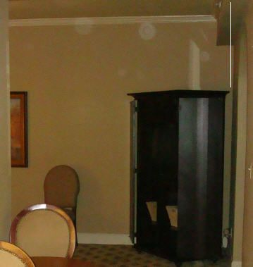 Orbs in a haunted room in Red House Hotel.