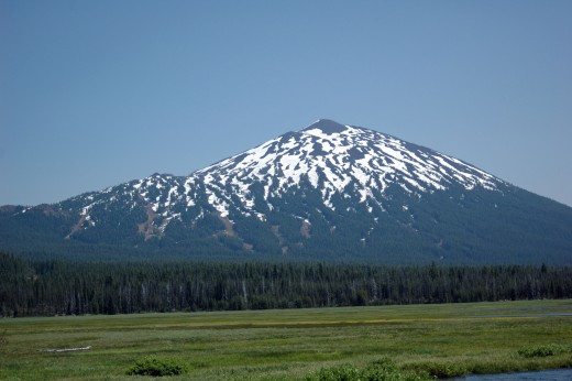 Mt. Bachelor as seen from Sparks Lake Or