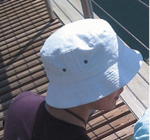Ahoy matey! A bucket hat will definitely flatter a heart shaped face!