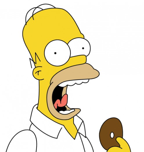 Homer's really not bald. He still has a couple of hairs.