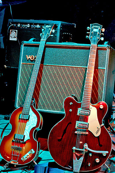 Instruments of McCartney and Harrison