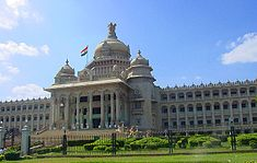VIDHANA SOUDHA,houses the Karnataka Government.