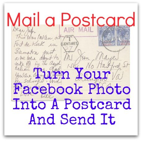 Mail A Postcard - Turn Your Facebook Photo Into A Postcard And Send It