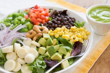 Vegetarian diet with vegetable