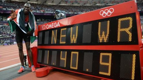 David Rudisha new 800m World record